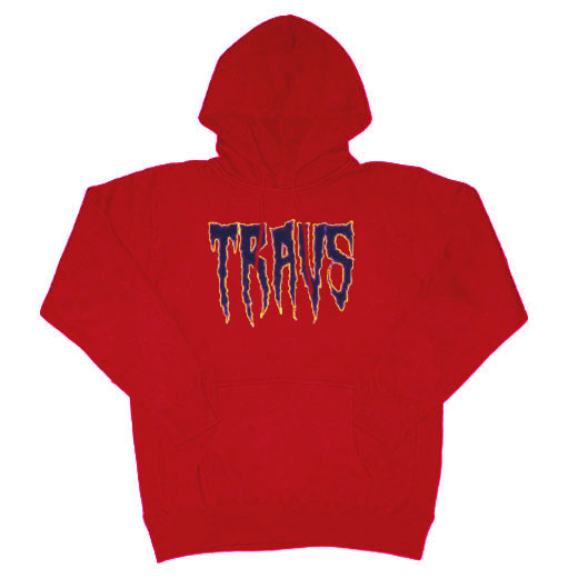 TRAVS RED NIGHT HOODIE [RED]