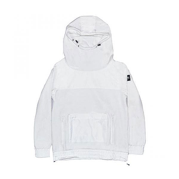FACE MASK WHITE HOODIE